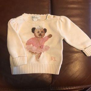 """Ralph Lauren """"ballerina"""" bear sweater"""